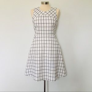 J.Crew Sleeveless A-Line Dress in Windowpane Tweed